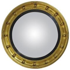 Regency Style Convex Mirror, 19th Century