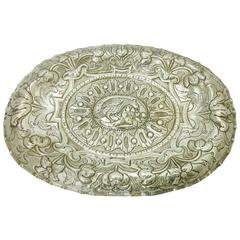 18th Century Spanish Colonial Large Silver Dish