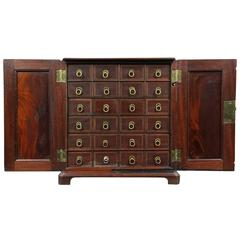 Fine George III Mahogany Apothecary Chest