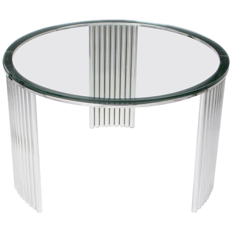 Deco Chrome Coffee Table: Art Deco Tubular Chrome Coffee Table In The Manner Of