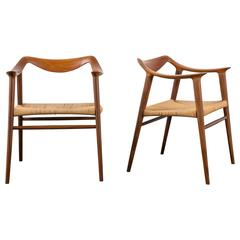 Pair of Vintage Bambi Chairs by Rolf Rastad & Adolf Relling for Gustav Bahus
