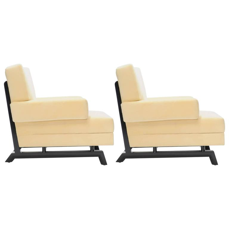 Pair of Paul Laszlo Club Chairs For Sale