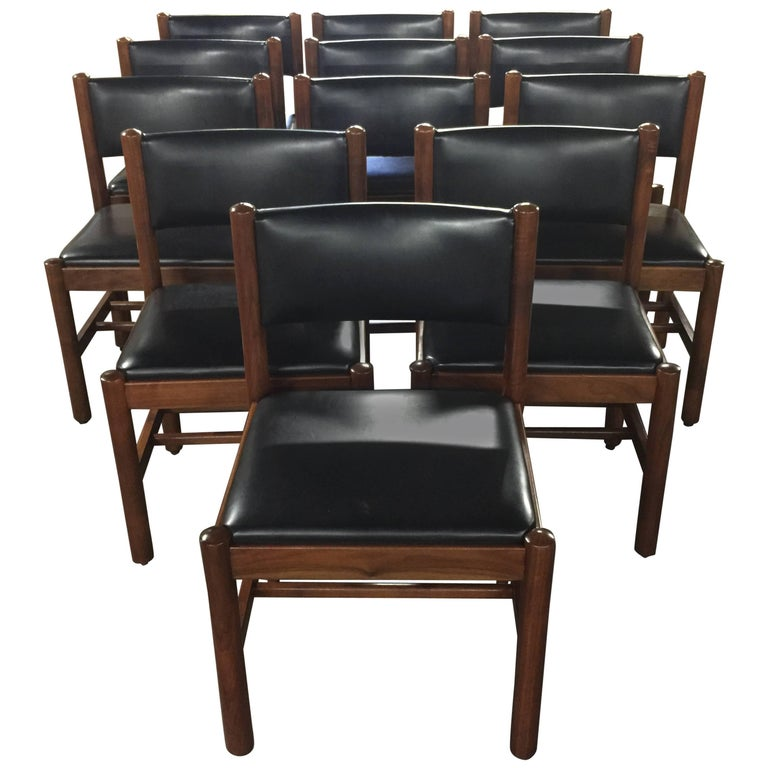 12 Danish Walnut Dining Chairs