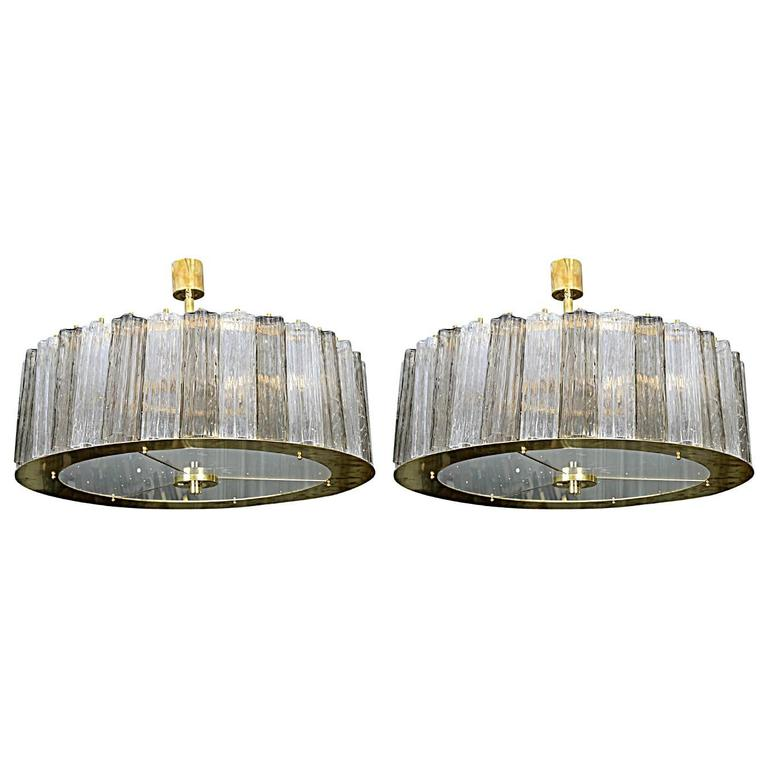 Lovely Pair of Murano Glass Chandeliers