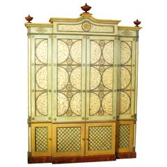 Moderne Louis XIV Buffet a Deux Corps Cabinet in the French Provincial Style