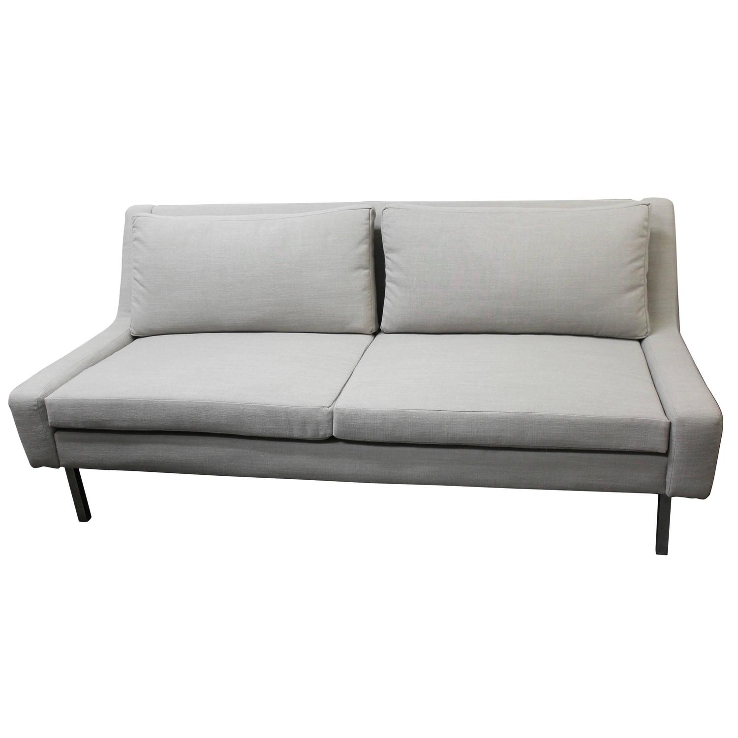 Armless Loveseat In The Style Of Florence Knoll At 1stdibs