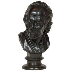 Bronze Bust of Voltaire after Jean Antoine Houdon