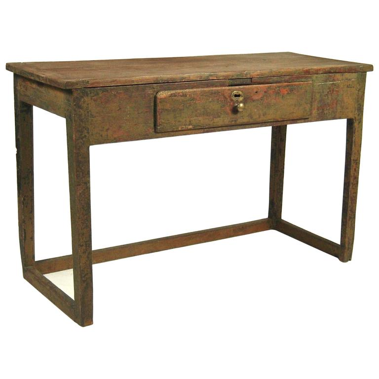 Early canadian painted table at 1stdibs for Sofa table canada
