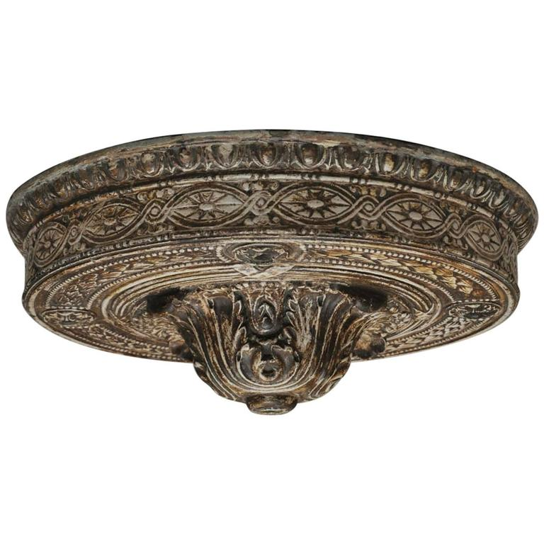 19th Century French Flush Mount Ceiling Plate For Sale