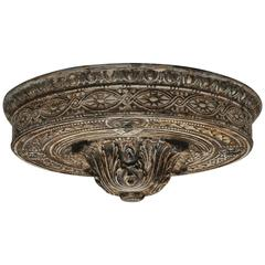19th Century French Flush Mount Ceiling Plate