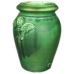 Glazed Stoneware Arts and Crafts Oil Jar, after Grueby, Early 1900s