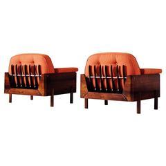 Jorge Zalszupin Pair of Rosewood Lounge Chairs