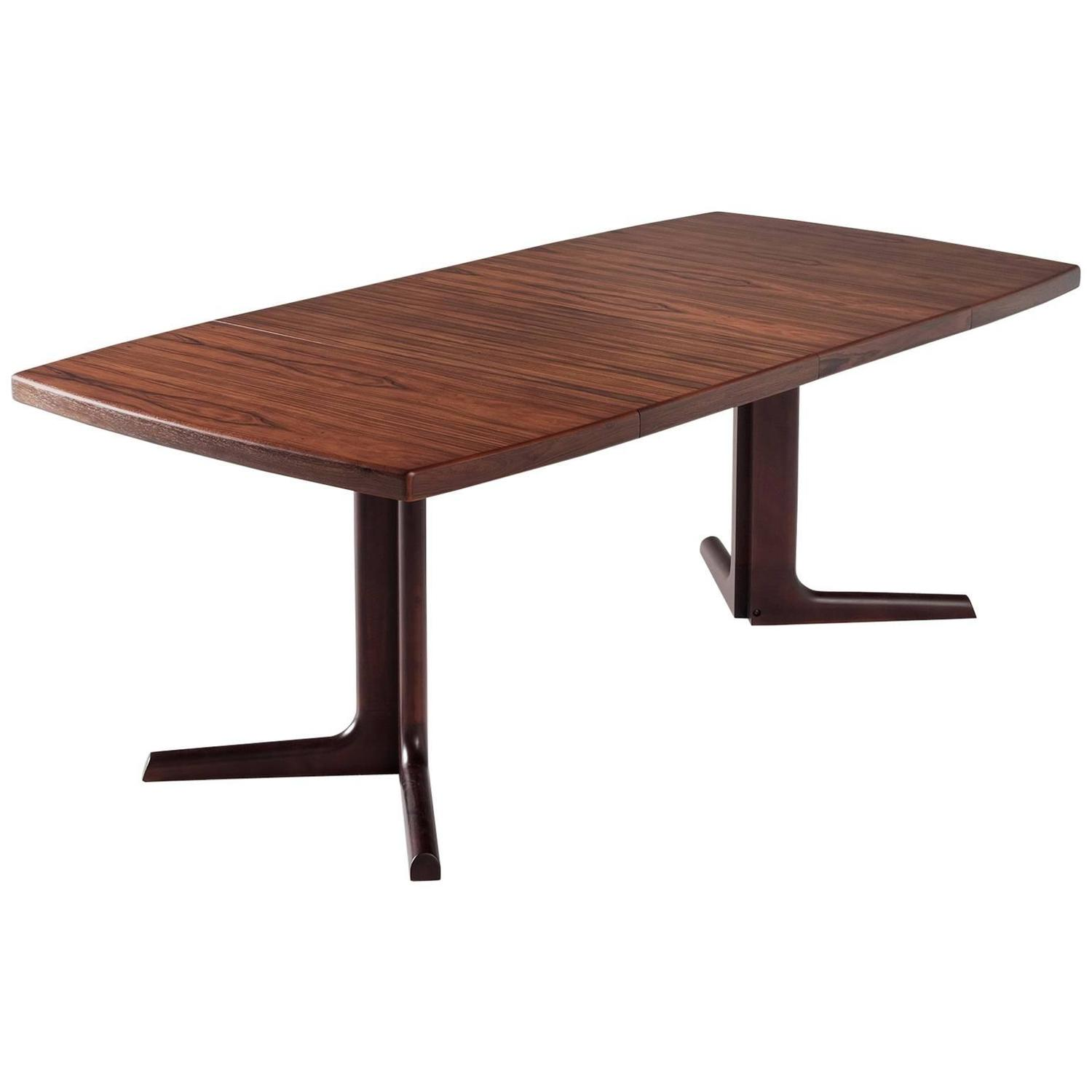 Extendable Danish Dining Table In Rosewood At 1stdibs