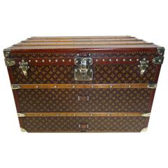 1920s Louis Vuitton Courier Stencil Trunk, Malle Courrier Pochoir