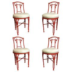 Faux Bamboo 'Chinoiserie' Side Chairs