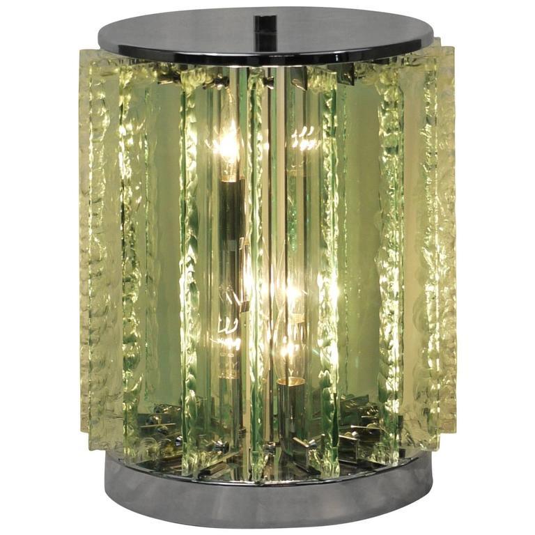 Italian Chiseled Glass Table Lamp 1
