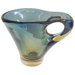 Murano Glass Pitcher Attributed to Fulvio Bianconi