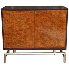 Small Burl Front Chest/Bar c. 1960