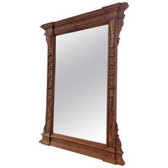 Large Antique Walnut Mirror