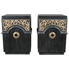Pair of End Cabinets by James Mont