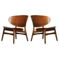 Hans Wegner, Pair of Shell Lounge Chairs