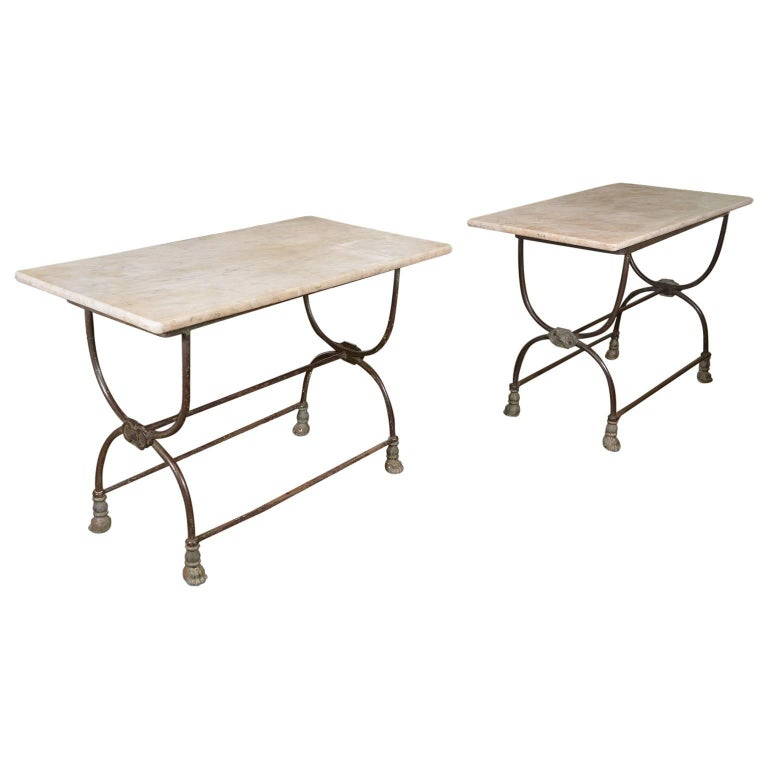 Pair of French Butcher Tables For Sale