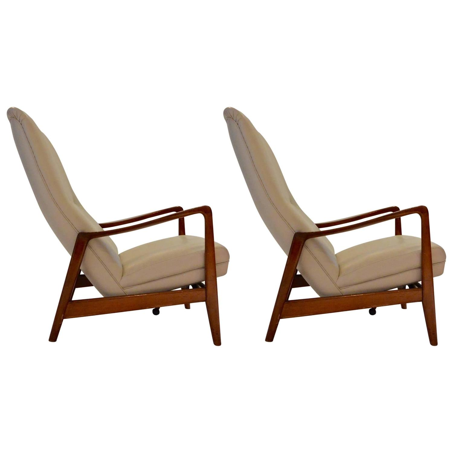 """Pair of Lounge Chairs by Gio Ponti """"829 """" circa 1963 at 1stdibs"""