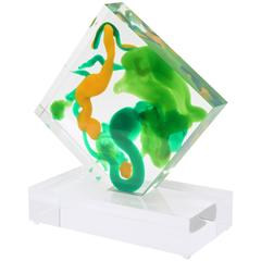 Lucite Abstract Blob Form Sculpture