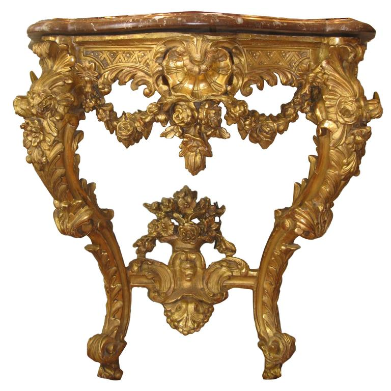 Console Louis XV, 18th Century Period For Sale at 1stdibs