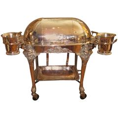 Carving Cart on Wheels, Silver Plated