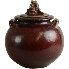 Large Jar with Oxblood Glaze by Bode Willumsen for Royal Copenhagen