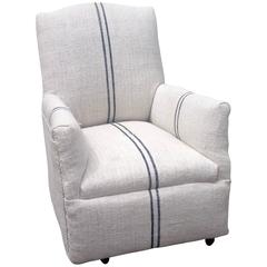 Child's Armchair in Vintage Linen