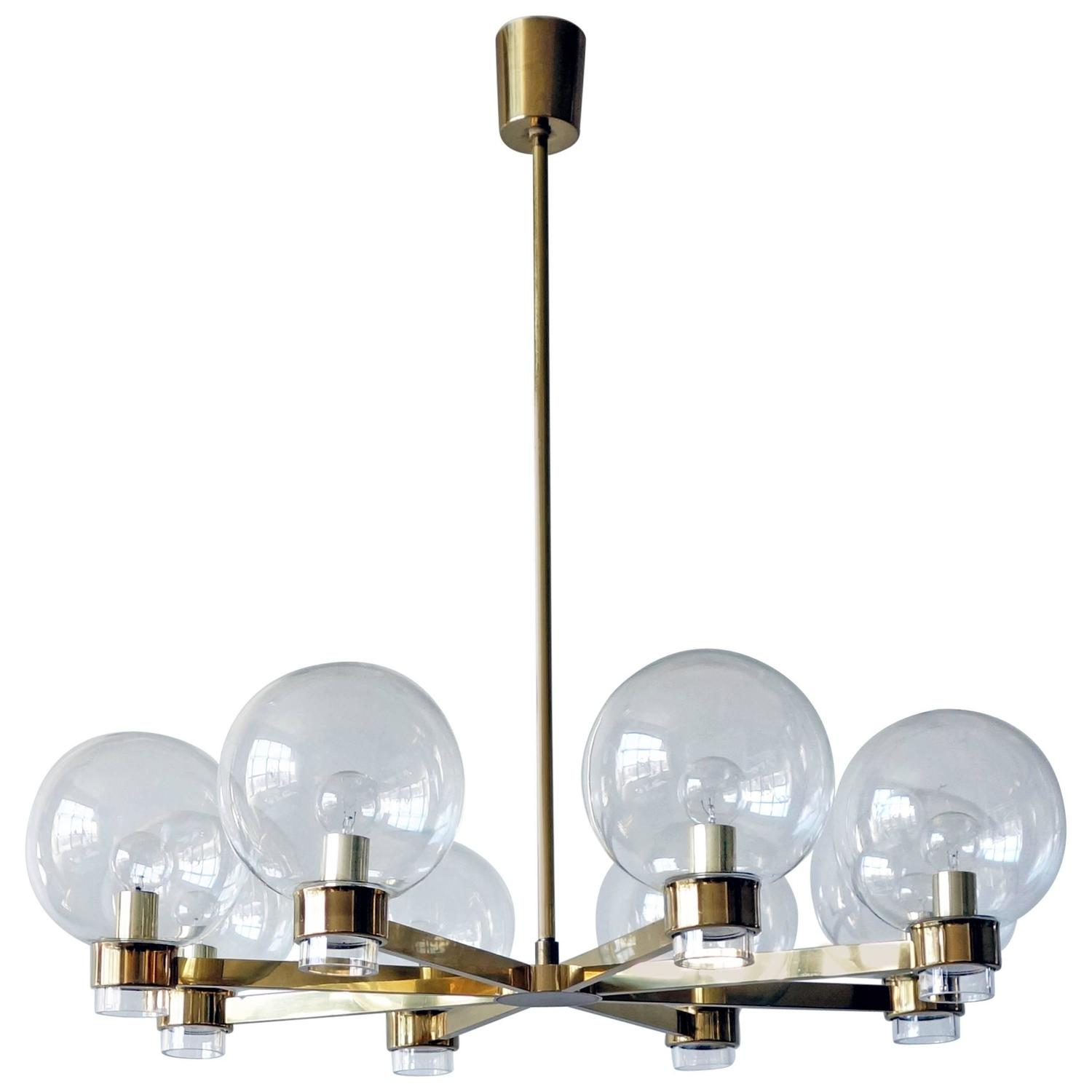 Swedish modern eight arm chandelier at 1stdibs arubaitofo Image collections