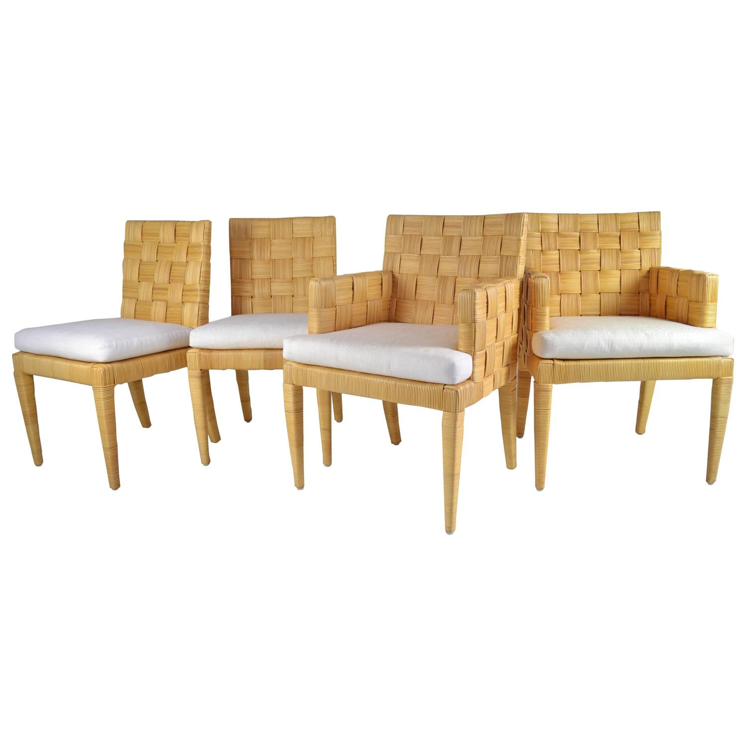 Donghia Rattan Chairs, Block Island Collection For Sale At 1stdibs