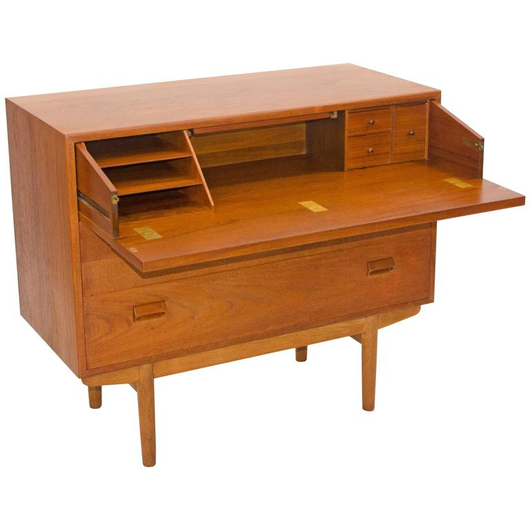 Danish Teak Chest, Desk, Vanity Combination by Børge ...