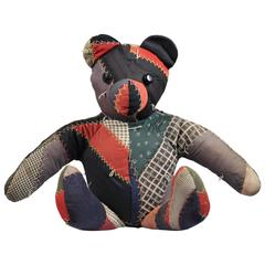 Late 19th Century Crazy Quilt Teddy Bear