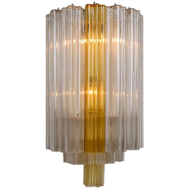 Extreme large Venini Tronchi wall lamp