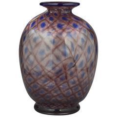 """Large Daum """"Peacock"""" Vase, circa 1910"""