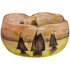 Daum Nancy Lobed Bowl, circa 1900
