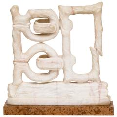 "Monumental ""Wedlock"" Marble Sculpture by Catchi, circa 1979"