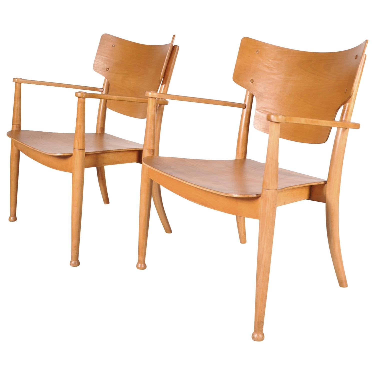 2 Portex Easy Chairs by Peter Hvidt and Orla Molgaard-Nielsen circa 1940 For Sale at 1stdibs  sc 1 st  1stDibs & 2 Portex Easy Chairs by Peter Hvidt and Orla Molgaard-Nielsen circa ...