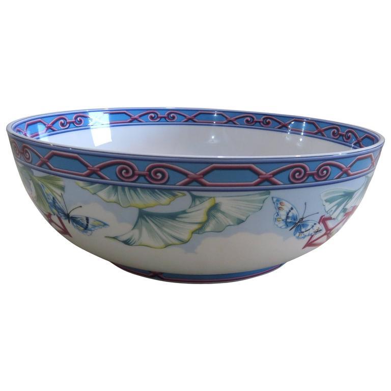 Porcelain Serving Salad Bowl By Hermes For Papillons At