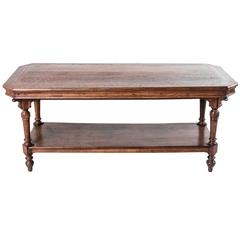 Antique French Silk Trader's Fabric Presentation Table Kitchen Island or Console