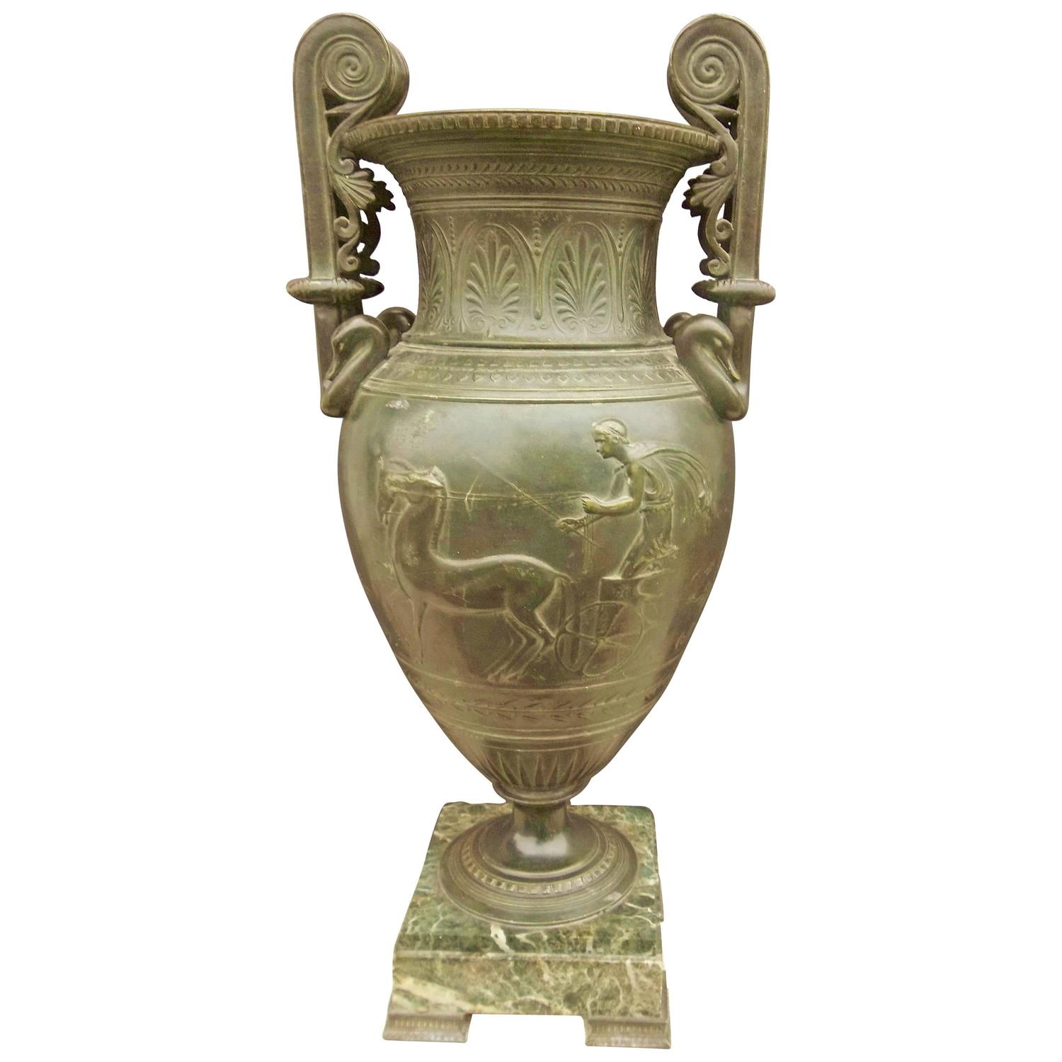 Large neoclassical styled vase or urn at 1stdibs - Large decorative vases and urns ...