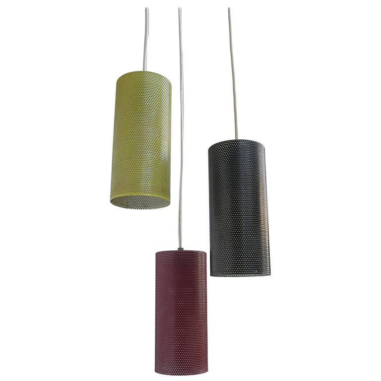 Colored Metal Pendant in Style of Mathieu Matégot