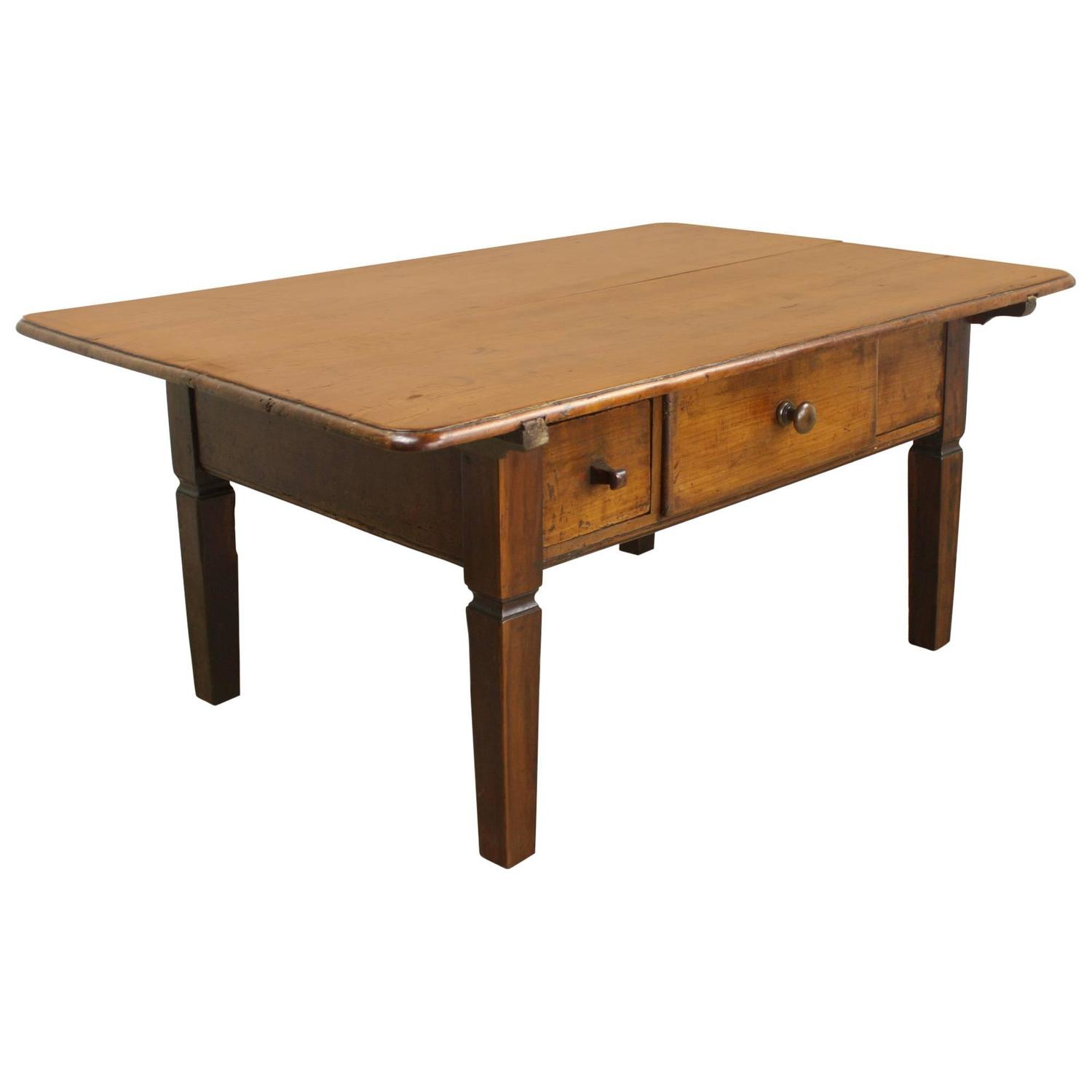 Antique French Alsatian Cherry Coffee Table At 1stdibs