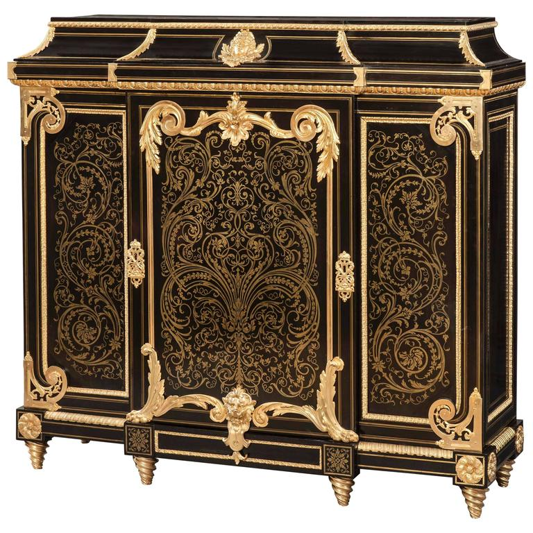 An antique french cabinet in the manner of andr charles for Antique baroque furniture