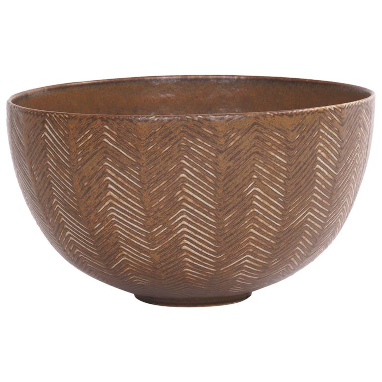 Axel Salto Stoneware Bowl For Royal Copenhagen