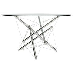 """Dynamic """"Tensegrity"""" 714 Dining Table Base by Theodore Waddell for Cassina"""