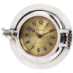 'Porthole' Clock by Jaeger le Coultre for Hermès